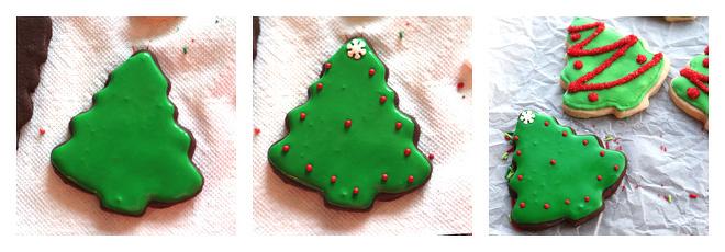 Christmas Tree Sugar Cookie Decorating Idea-2