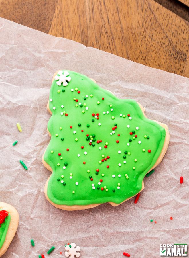 Christmas Tree Sugar Cookie Decorating Idea-3