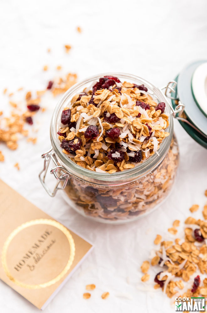 Cranberry Toasted Coconut Granola