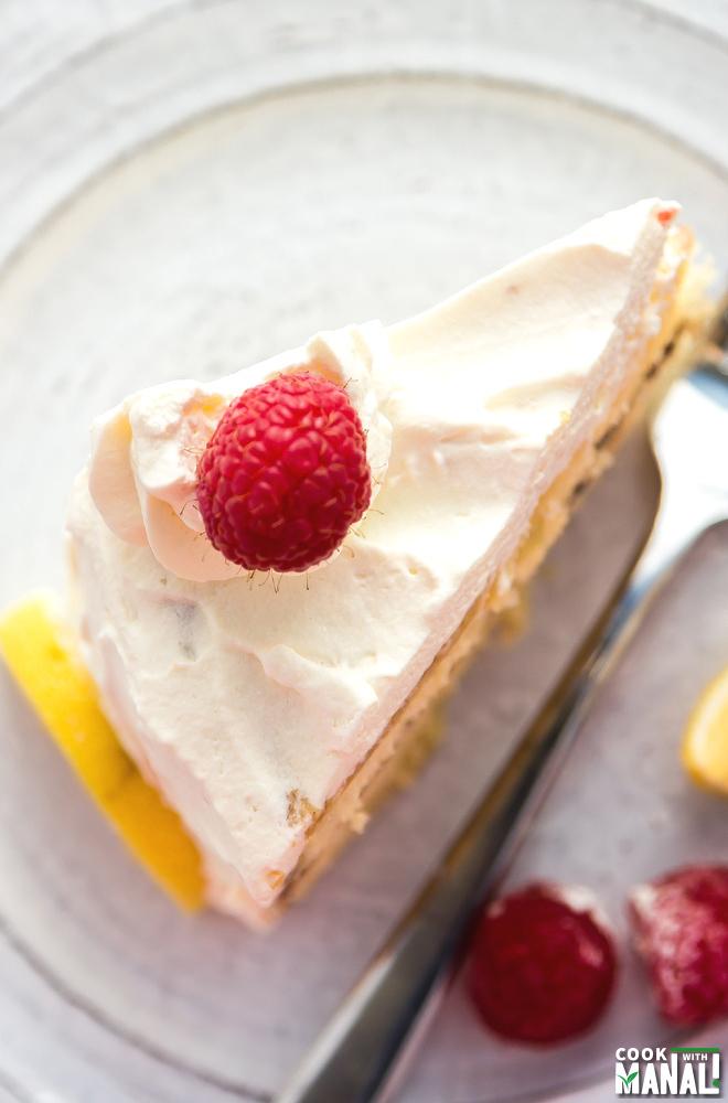 Lemon Raspberry Cream Cake