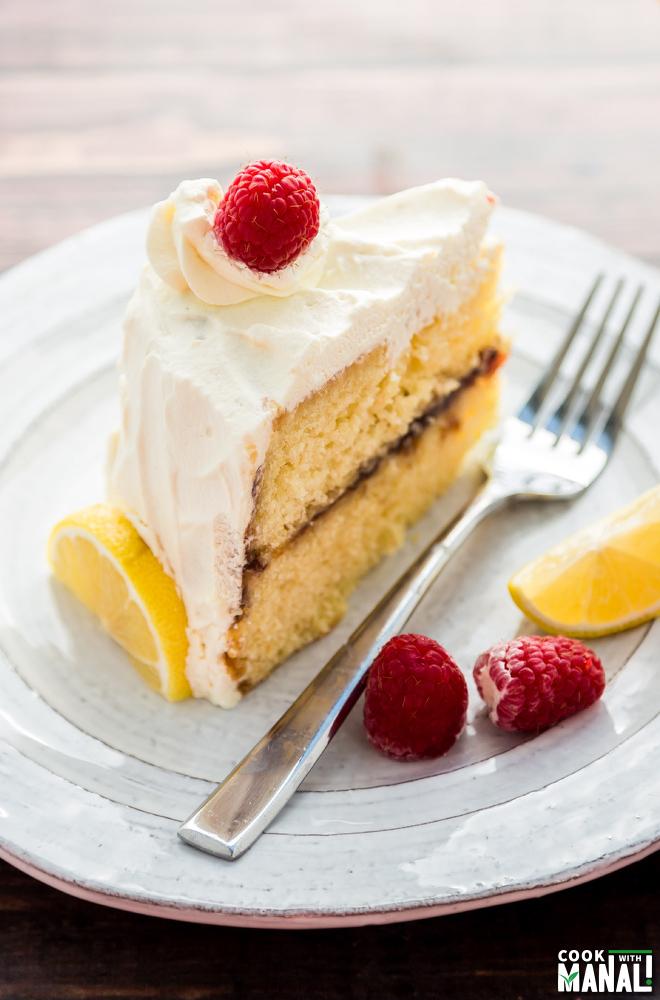 Lemon & Raspberry Cream Cake