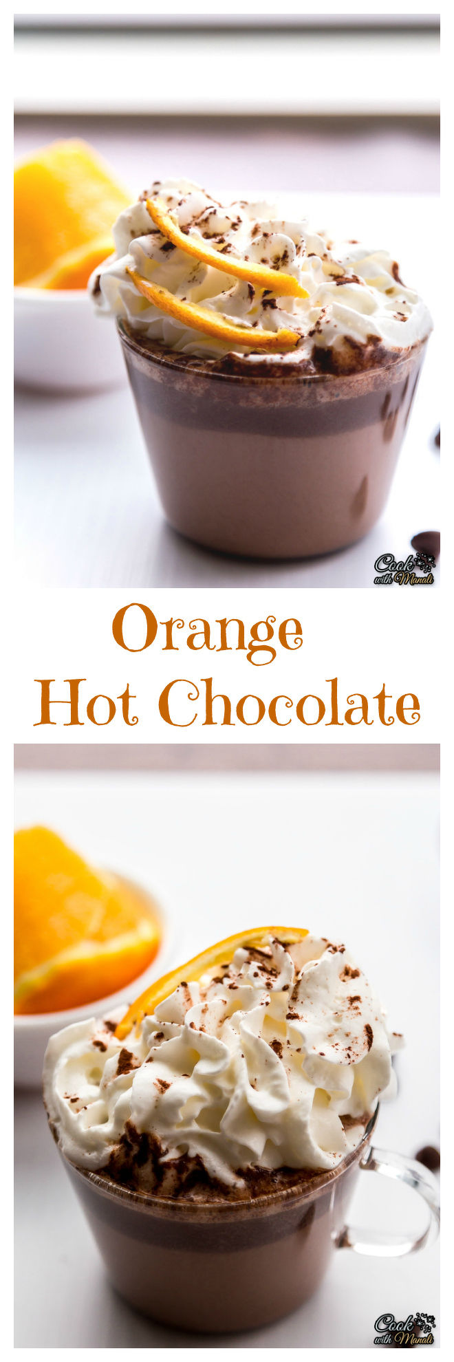 Orange Hot Chocolate - Cook With Manali