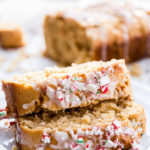 Peanut Butter Coconut Quick Bread With Mint Glaze