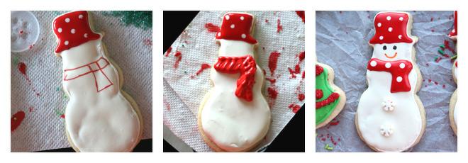 Snowman Cookie Decorating Idea