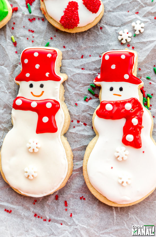 Snowman Sugar Cookie