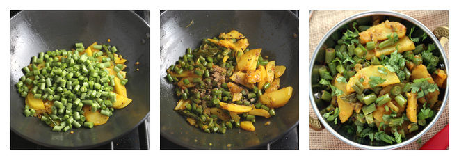 Aloo Beans Recipe-Step-3