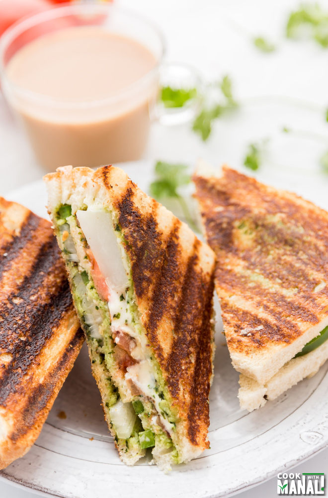Bombay Veggie Grilled Sandwich