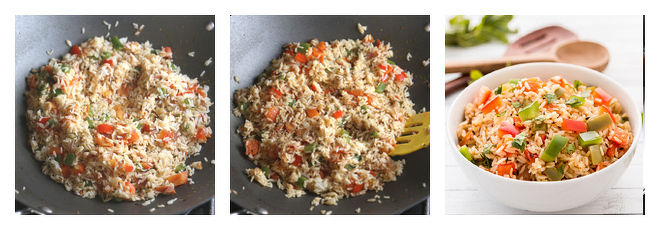 Capsicum Rice Recipe-Step-4