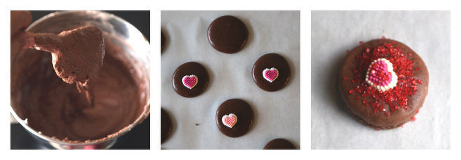 Chocolate Macarons With Rose Filling-Recipe-Step-3