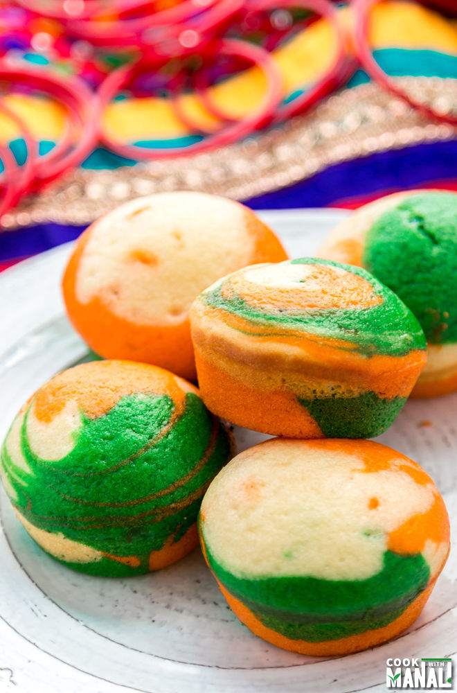 Cupcakes In Indian Colors