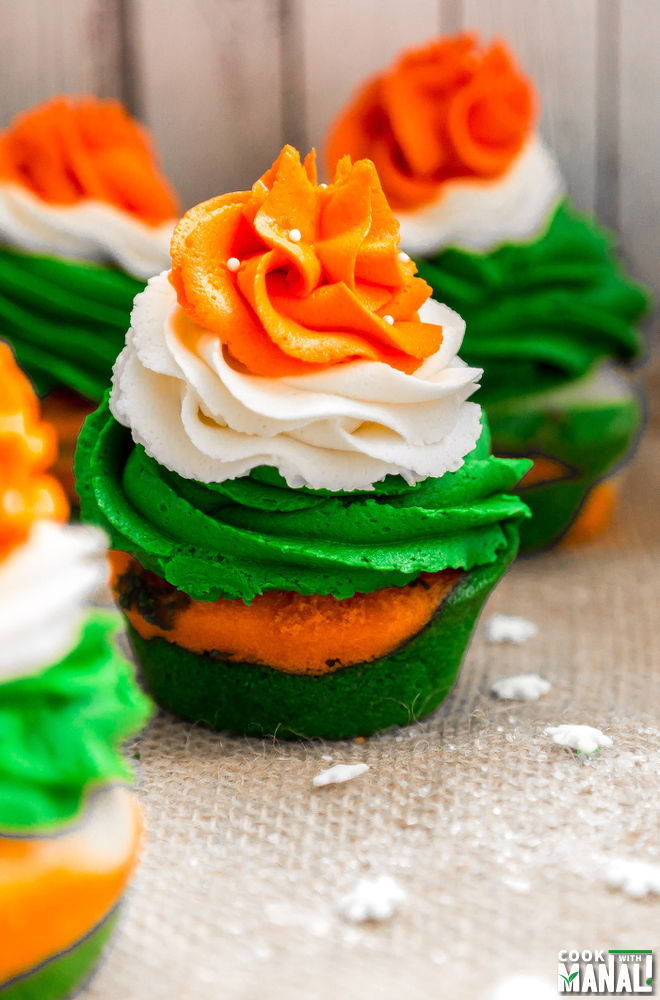 Cupcakes In Indian TriColor