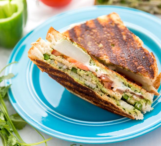 Grilled Bombay Sandwich