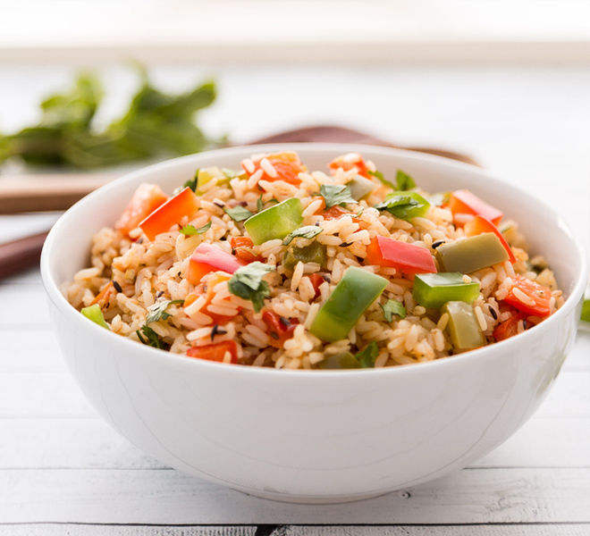Indian Capsicum Rice