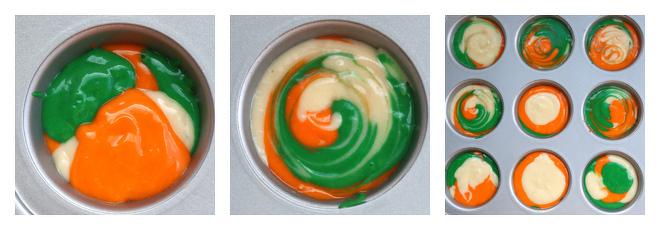 Indian Tricolor Cupcakes Design-2