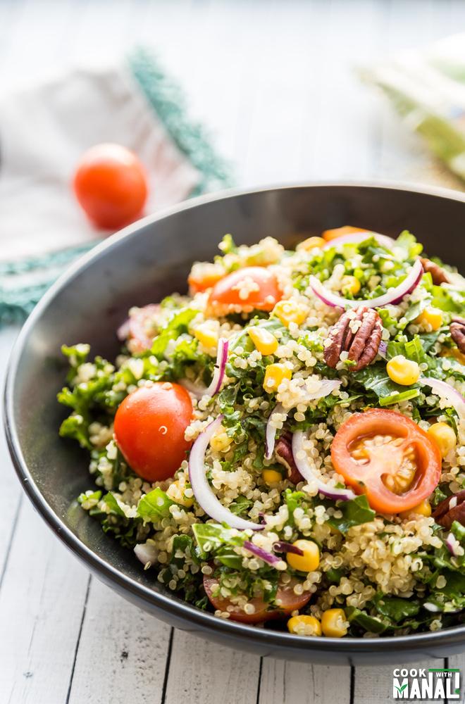 Kale Quinoa Corn Salad