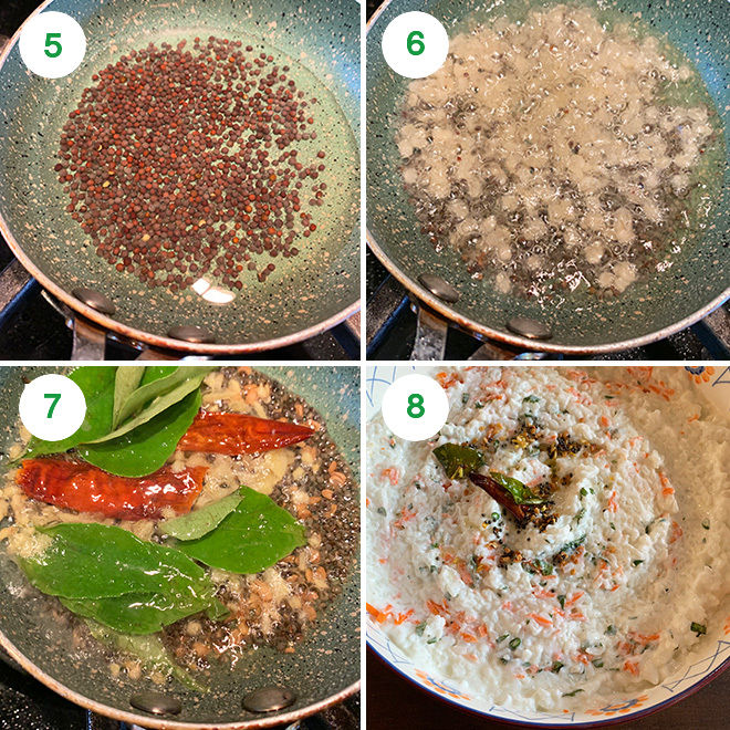 step by step process of making curd rice