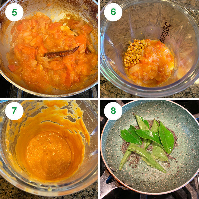 step by step pictures of making tomato chutney