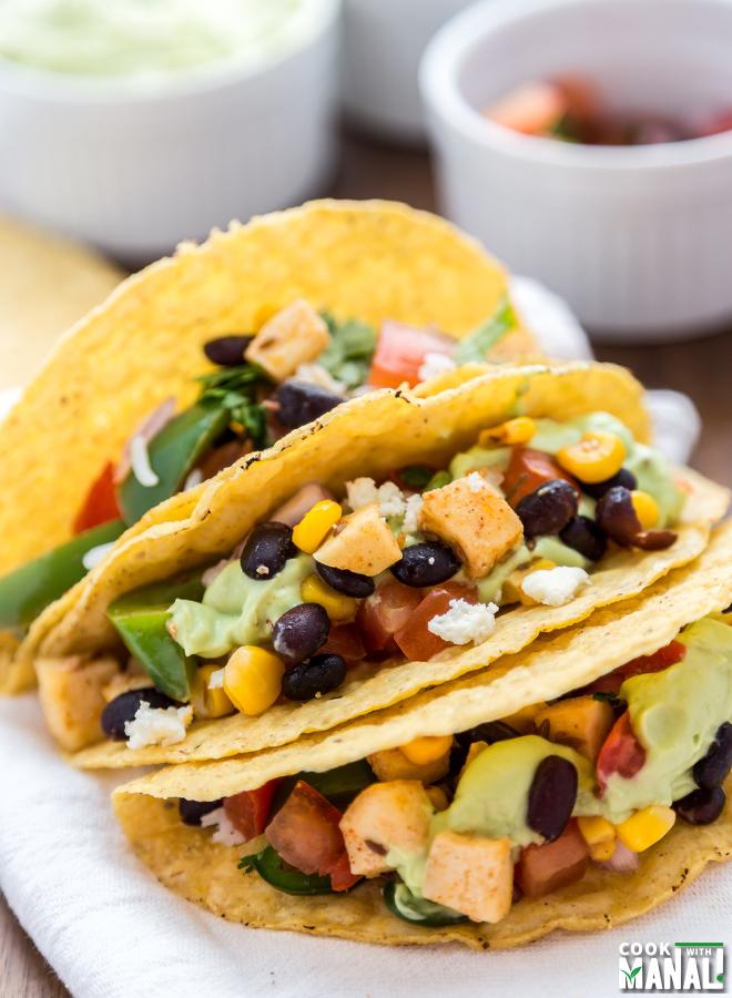 Vegetarian Bean Paneer Taco