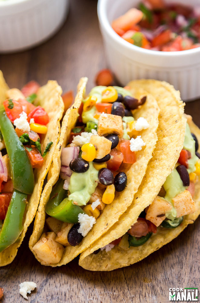 Vegetarian Paneer Taco
