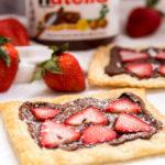 3 Ingredient Strawberry Nutella Tart