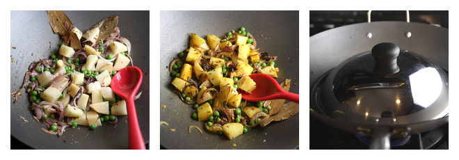 Aloo Matar Tehri Recipe-Step-2