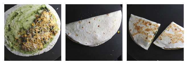 Chickpea Spinach Corn Quesadillas Recipe-Step-4