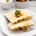 Chickpeas Spinach Corn Quesadillas