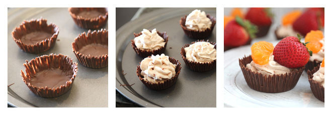 Chocolate Cups With Whipped Cream-Recipe-Step-4