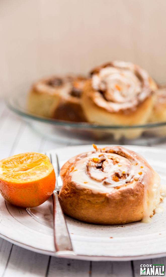 Cinnamon Rolls with Orange Frosting