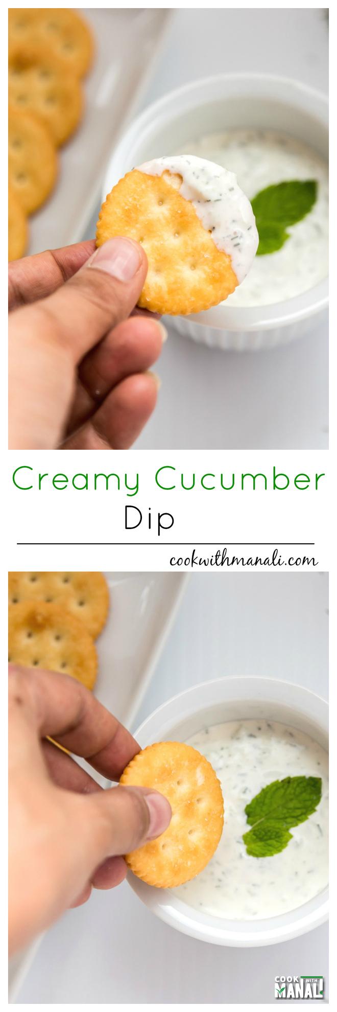 Creamy Cucumber Dip-Collage