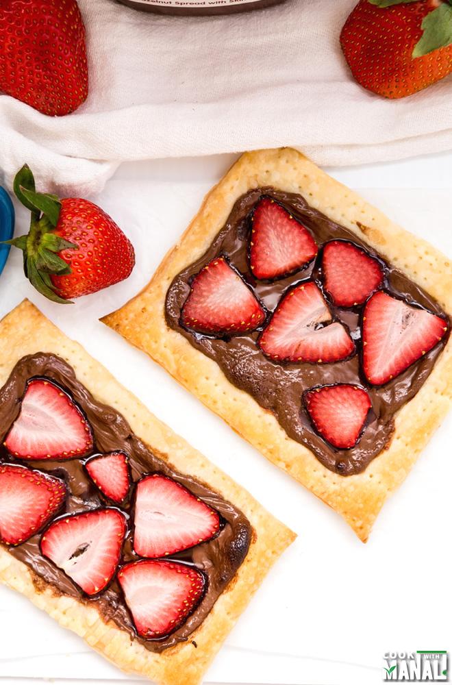 Easy Nutella Strawberry Tart