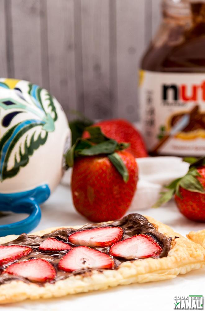 Easy Strawberry Nutella Tart