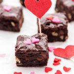 Fudgy Brownies With Chocolate Glaze