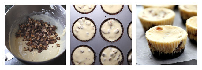 Mini Snickers Cheesecakes Recipe-Step-5