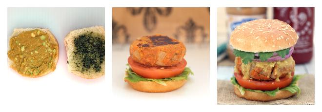 Peanut Butter Sweet Potato Lentil Burger Recipe