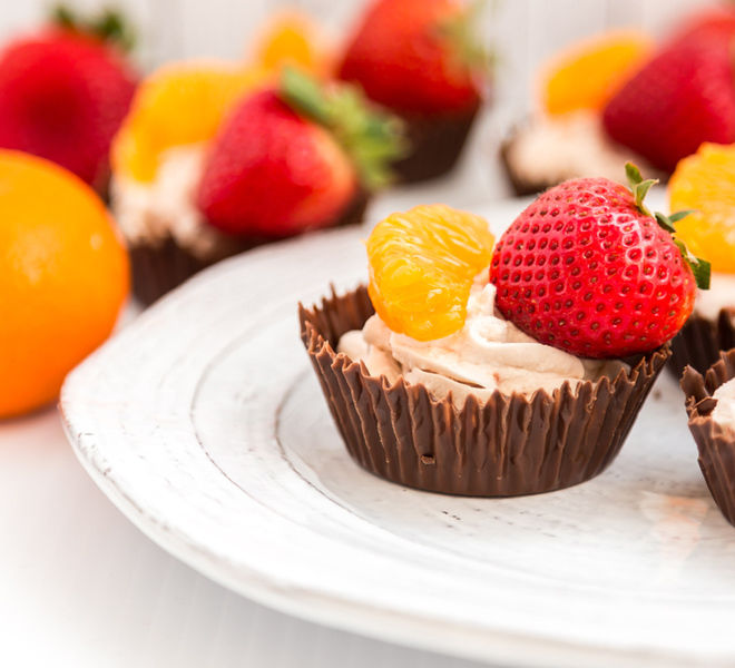 Whipped Cream Filled Chocolate Cups