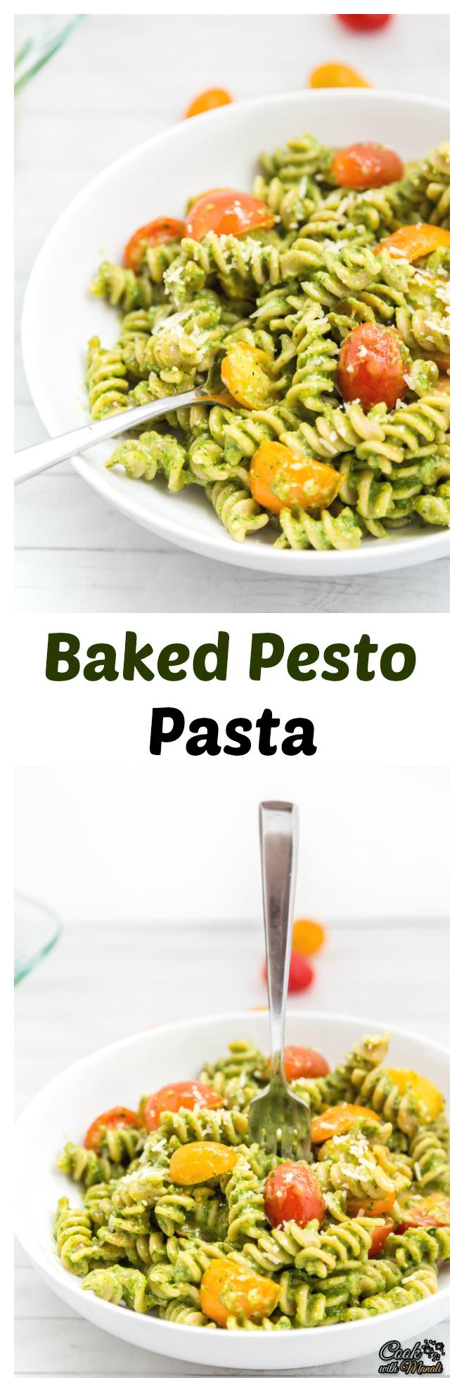Baked Pesto Pasta Collage-nocwm
