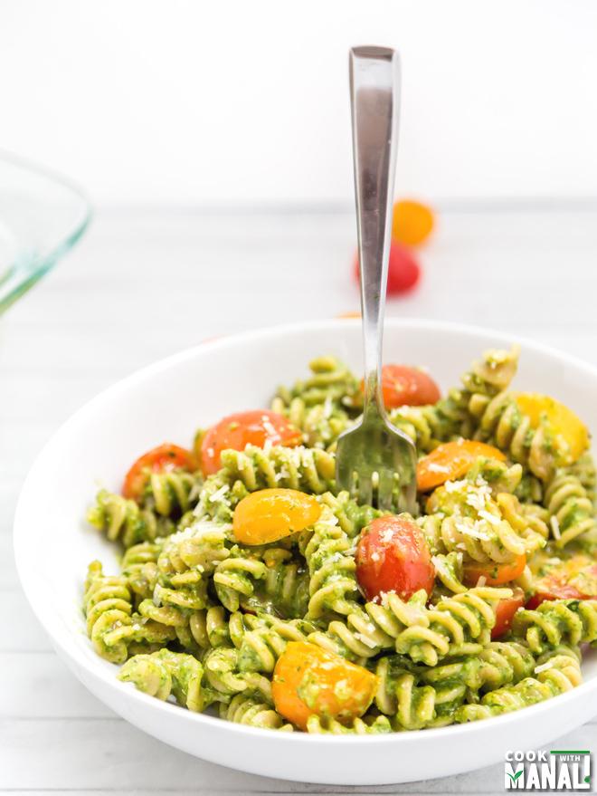Baked Spinach Pesto Pasta