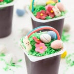 Easter Basket Pudding Cups
