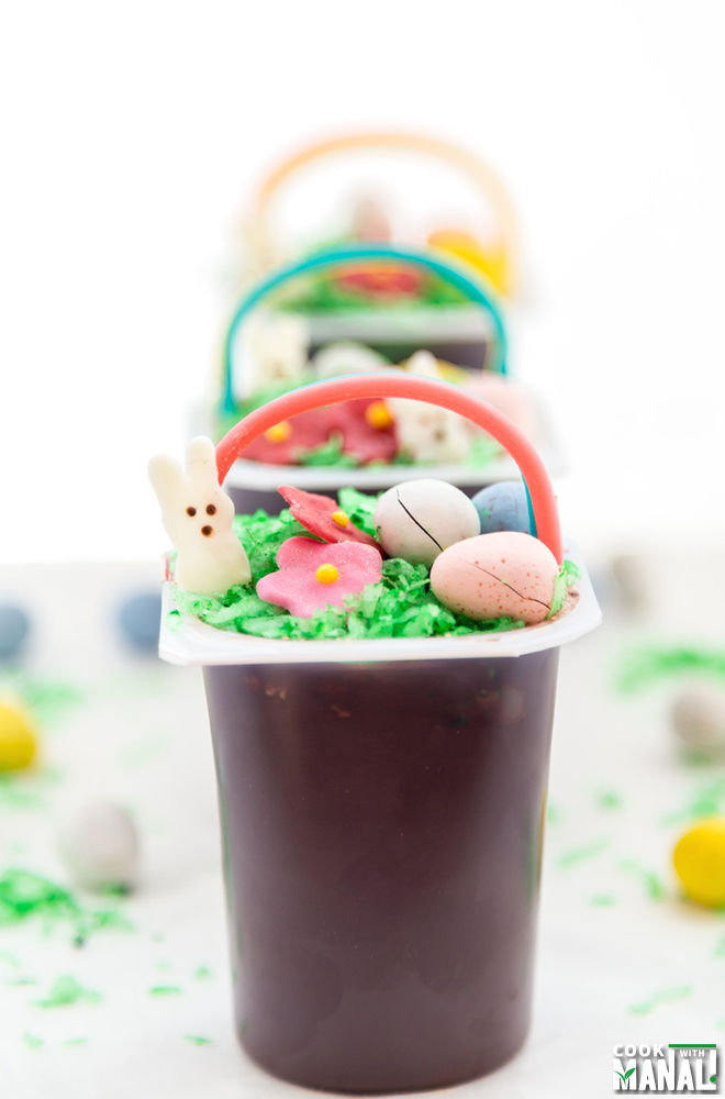Easter Basket Snack Pack Pudding Cups