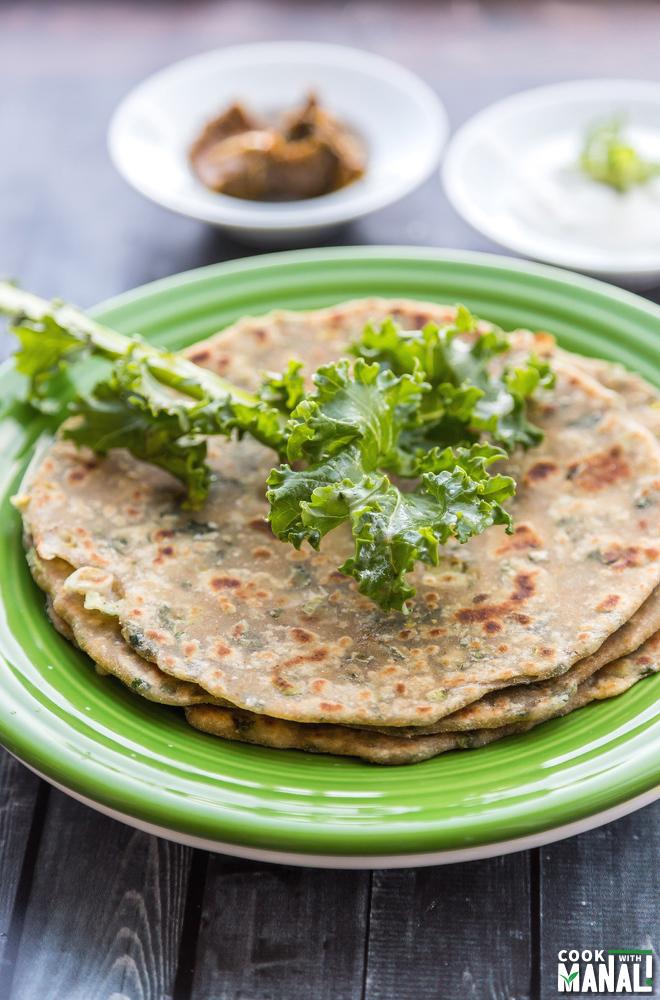 Kale Paratha Indian