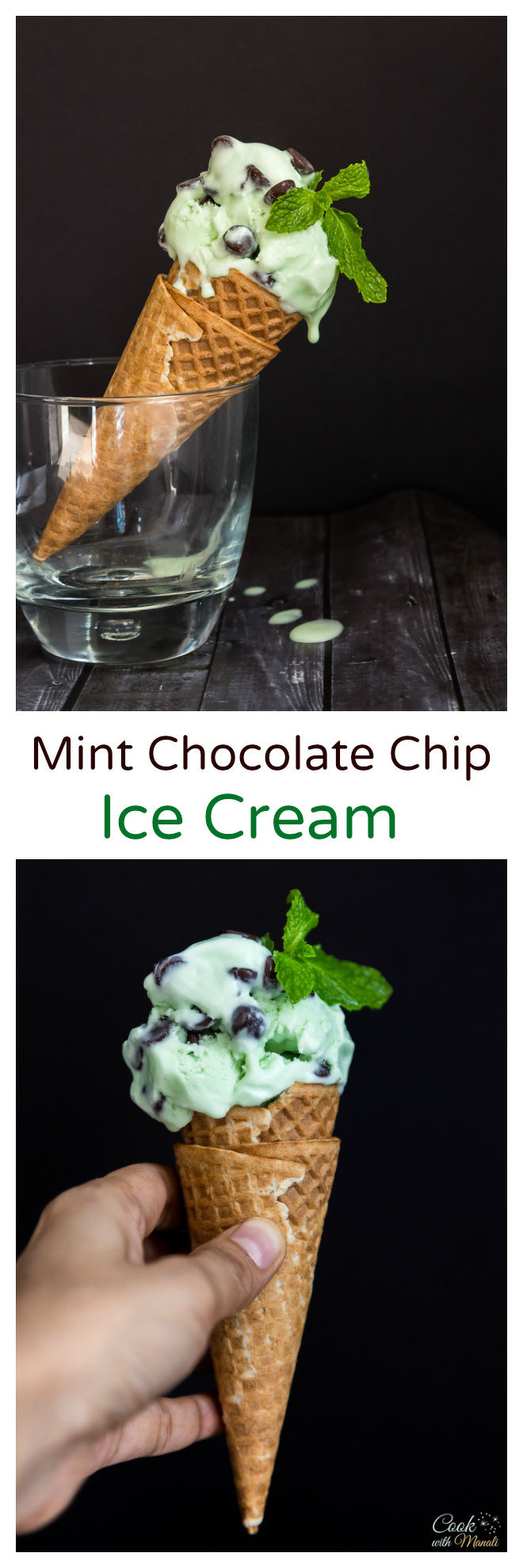 Mint Chocolate Chip Ice Cream - Cook With Manali