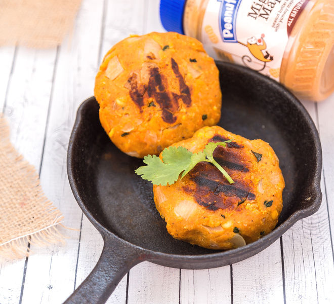 Peanut Butter Sweet Potato Lentil Patties