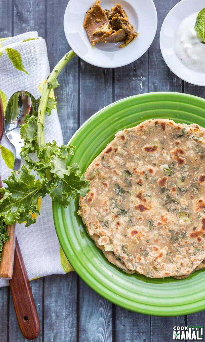 Vegan Kale Paratha