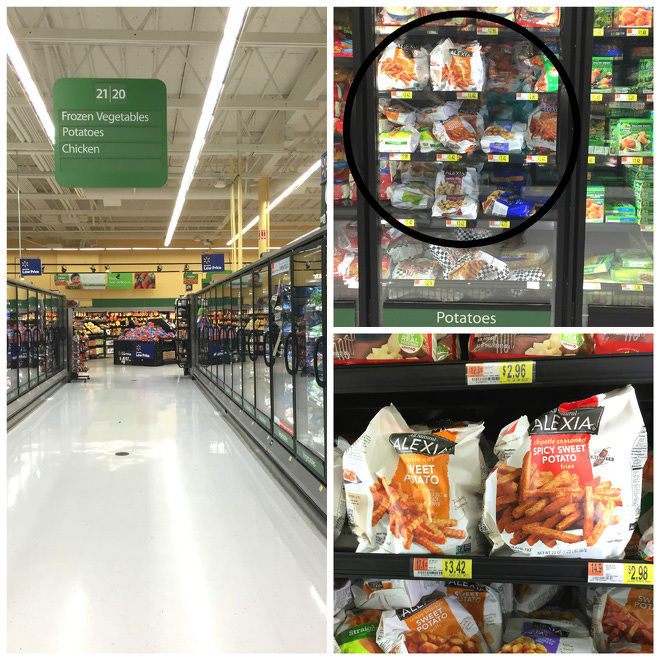Alexia Onion Rings & Fries in Walmart