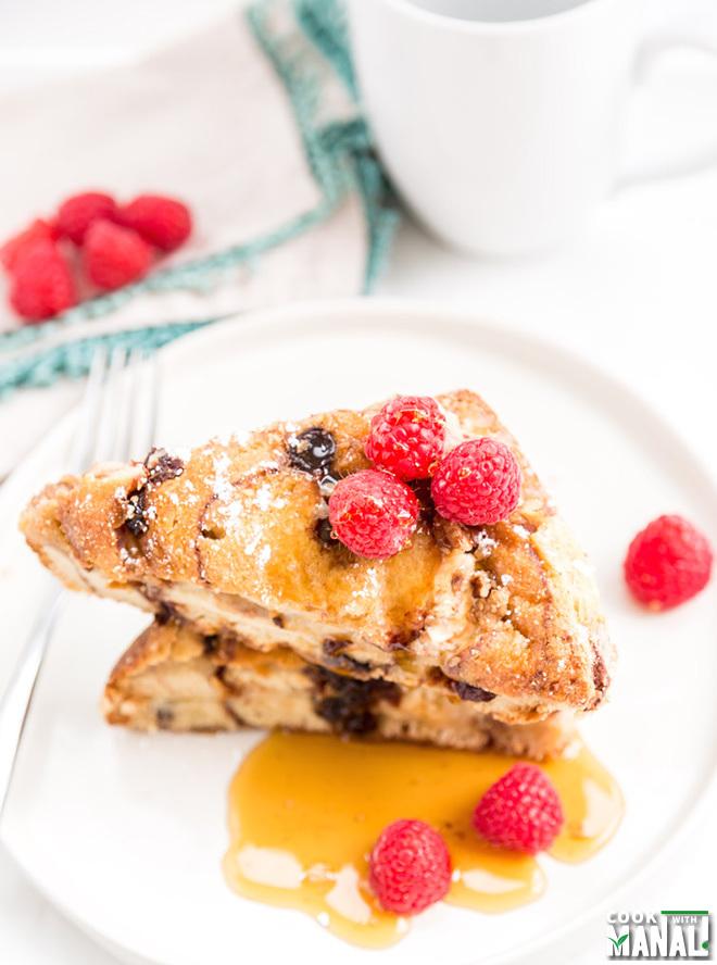 Overnight Stuffed Cinnamon Raisin French Toast