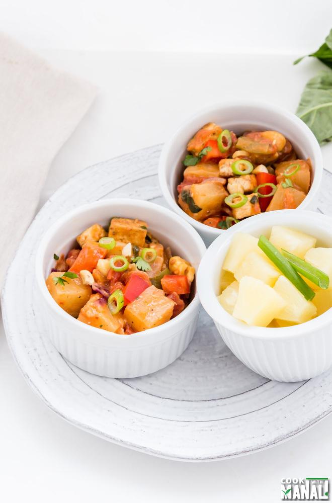 Pineapple Tofu Vegan Coconut Curry