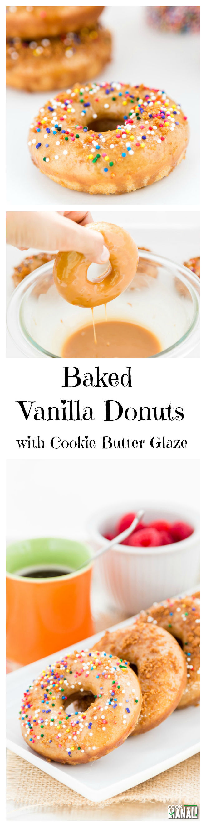 Vanilla-Donuts-with-Cookie-Butter-Glaze-Collage