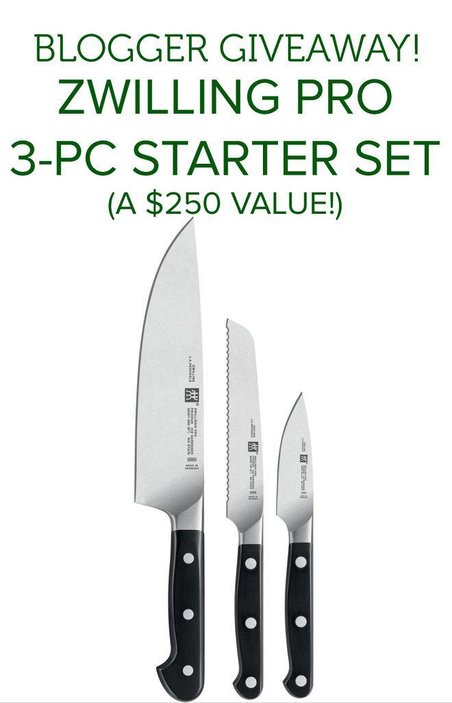 Zwilling Pro Starter Knife Set Giveaway-nocwm