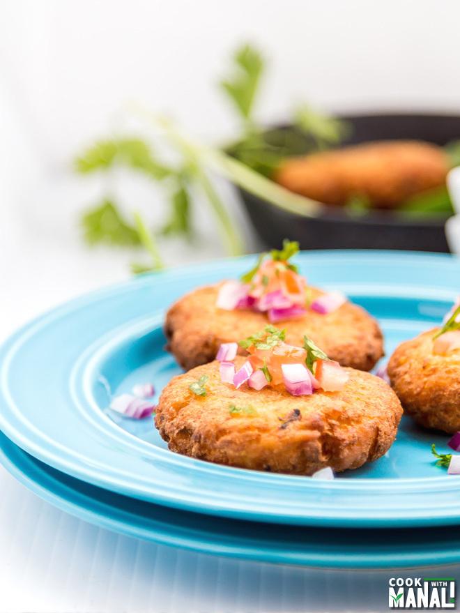 Aloo Tikki Chaat Indian Street Food